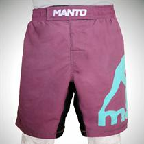 Manto Pro Logo Brown Fight Shorts